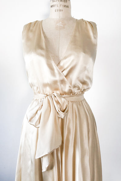 1980s Silk Handkerchief Dress - M