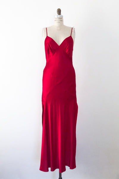 1980s Silk Bias Cut Slip Dress - S/M