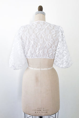 1950s Nylon Lace Cropped Top - XS/S
