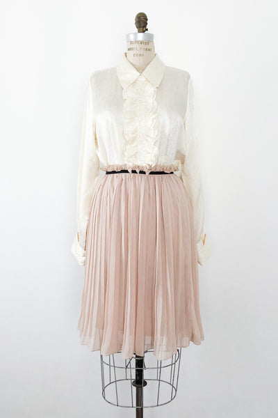 Dusty Peach Chiffon Skirt - XS/S