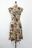 1970s Poly Floral Print Dress - S