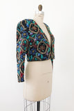1980s Heavily Sequined Cropped Jacket - M