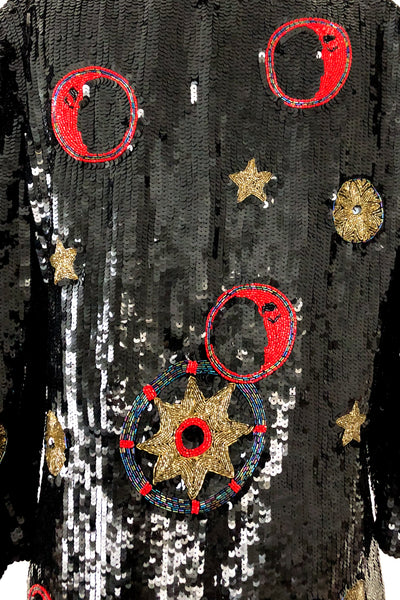 1980s Moon and Stars Tuxedo Jacket - M/L