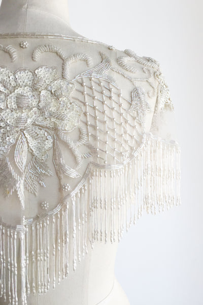 Vintage Beaded Capelet - One Size