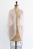 1980s Pink Chiffon Sheer Jacket - One Size