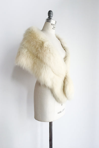 1950s Long Arctic Fox Stole - One Size