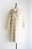 Vintage Faux Fur Long Jacket - M