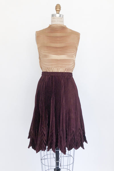 1980s Gold Pleated Top - M