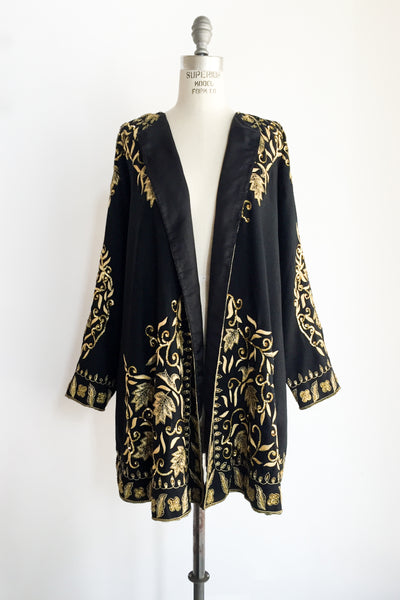 1980s Wool Beaded Duster - M/L