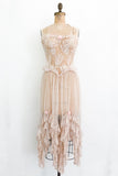 Vintage Ecru Tulle and Lace Negligee - XS/S