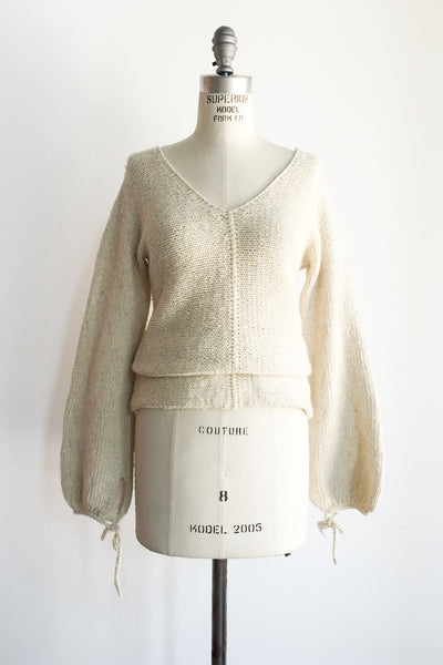 Vintage Long Poet Sleeve Sweater - M