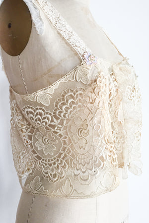 1920s Antique Lace Camisole - M/L