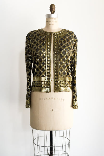 1980s Silk Beaded Jacket - M