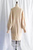 Vintage Beige Poet Sleeve Long Knit Cardigan - S/M