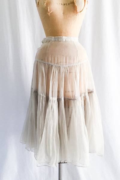 1950s Sheer Silk Organza Skirt - S