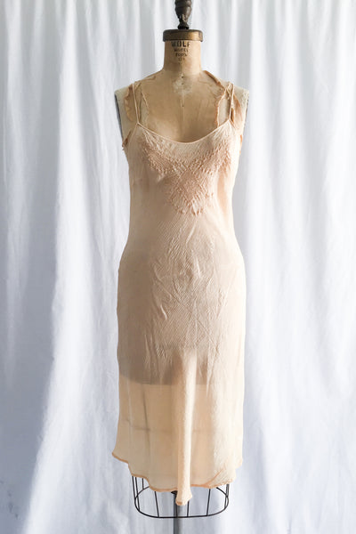 1930s Silk Slip Dress - S/M