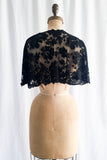 1930s Black Silk Lace Capelet - One Size