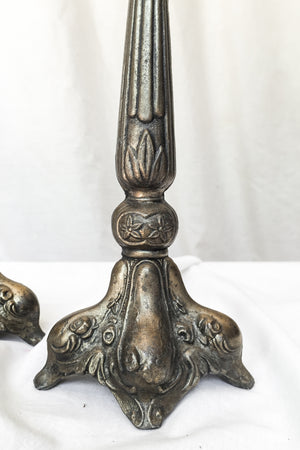 Antique Pair of Ornate Candlestick Holder