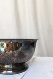 Vintage Tarnished Silverplate Bowl