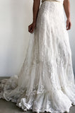 Antique Brussels Lace Gown - XS
