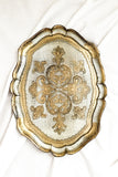 Vintage Small Gold Florentine Tray