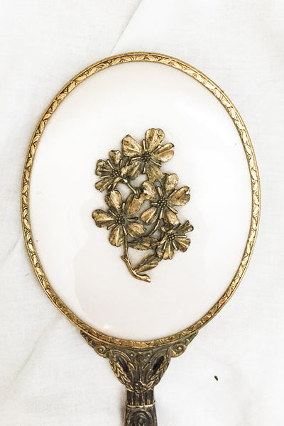1920s/30s Gilded Mirror with Floral Motif