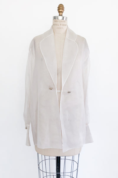 Vintage Sheer Silk Organza Jacket/Duster - M