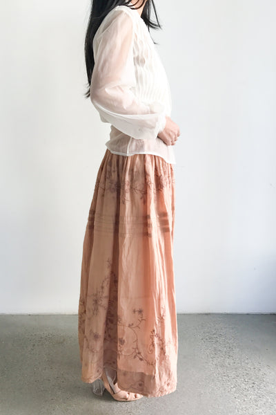 Edwardian Tea-Dyed Skirt - S/M