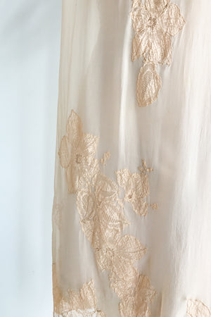 1920s Silk Lace Dress - M