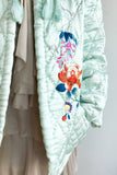 1940s/1950s Silk Quilt Pattern Embroidered Jacket - M