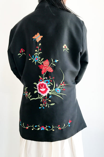 Vintage Embroidered Reversible Jacket - M