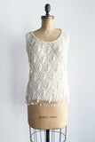 1960s Wool Beaded Tassel Top - M/L