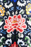 Antique Chinese Silk Floral Embroidered Robe - M