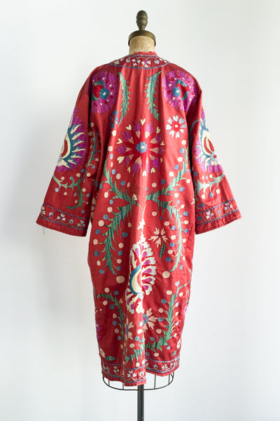 Antique Silk Embroidered Duster - M