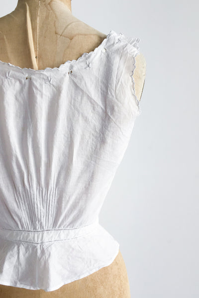Antique Edwardian Embroidered Camisole - XS/S