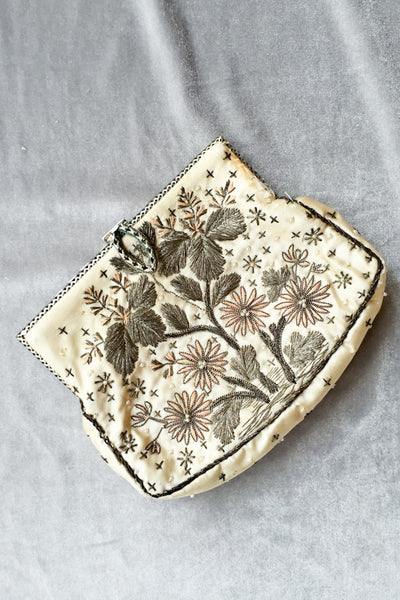 1920s Lame and Silk Embroidered Purse