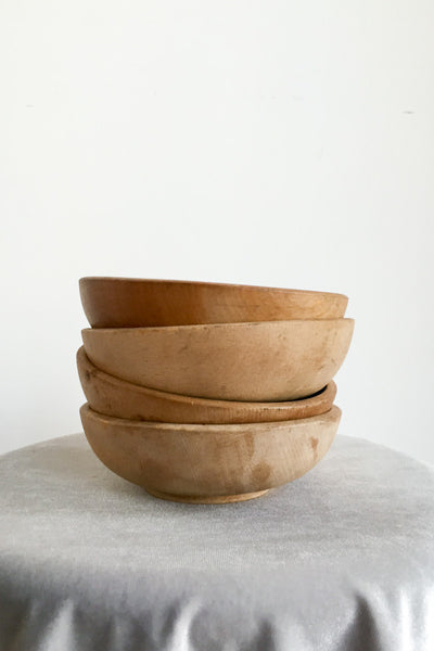 Set of 4 Midcentury Wooden Bowls