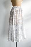 Antique Lace Short Petticoat - S/M