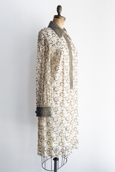 1960s Mod Lace Dress - M