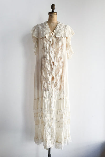 Edwardian Silk Dressing Gown - One Size