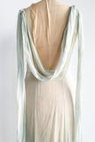 1930s Sheer Silk Seafoam Green Gown - M