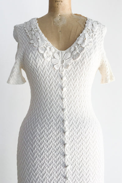 Vintage Knit Fitted Dress - XS-M
