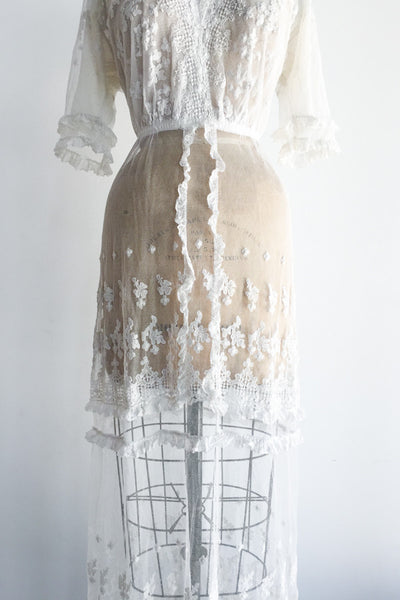 Antique Edwardian Tulle Gown - S