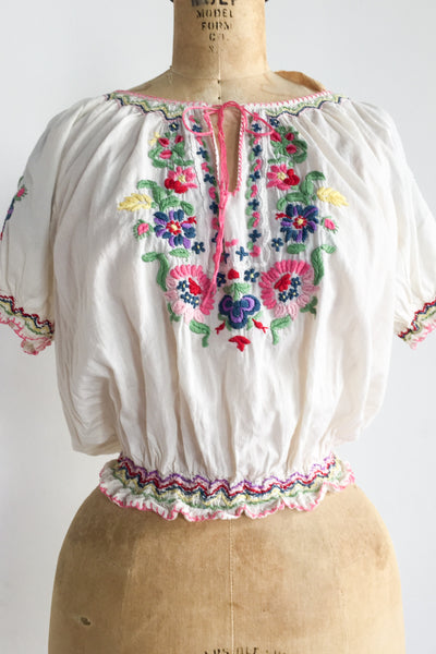 Vintage Embroidered Shirt - S/M