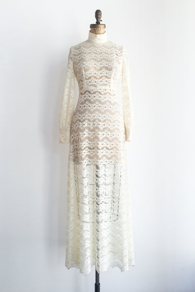 1960s Flower Lace Gown - XS/S