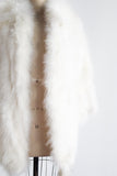 1950s White Feather Jacket/Coat - M