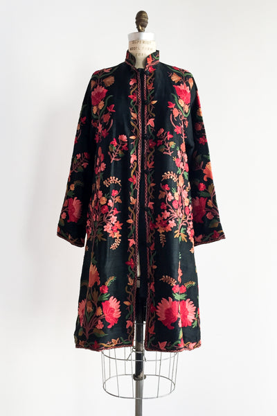 1970s Embroidered Silk Jacket - M
