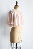 1950s Light Pink Pleated Jacket - One size