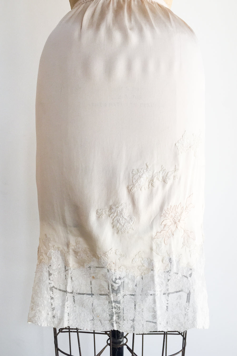 1930s Silk Charmeuse Silk Skirt with Embroidery - XS/S