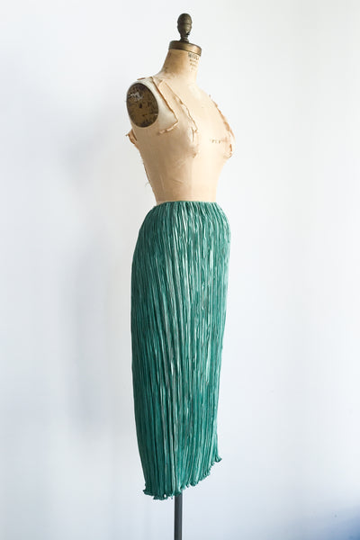 1980s Mary McFadden Seafoam Green Skirt - M